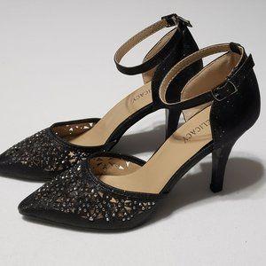 Delicacy Sexy Cut-Out Glitter/Rhinestone Heels 6.5